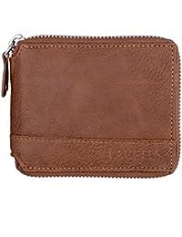 Laurels Zipper II Brown Color Men Leather Wallet- LWT-ZIP-II-09