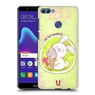 Head Case Designs Ice Cream Adorable Bunnies Hard Back Case for Huawei Y9 (2018) / Enjoy 8 Plus