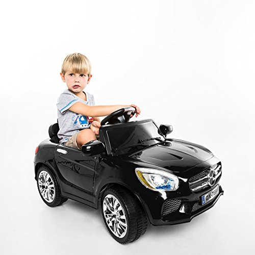 Costway Kids Ride On Car 6V Electric Battery Remote Control Radio Children Toys MP3 (Black)