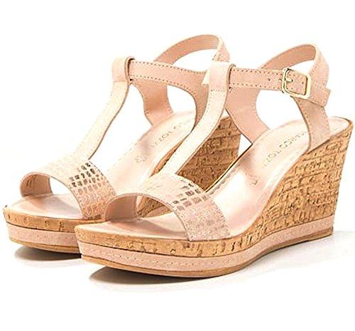 Marco Tozzi  Jem,  Damen Peep Toes , rosa - Blush Pink - Größe: 36.5
