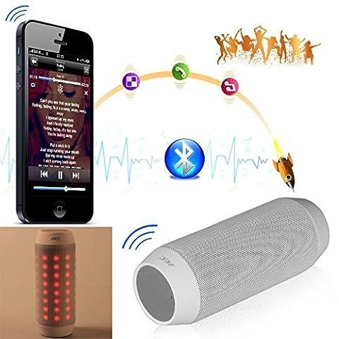 Neues Bluetooth Lautsprecher, TechCode Portable V3.0 Stereo Lautsprecher mit High-Definition Sound Qualität & Superior Bass, Sensitive Touch, Freisprechen für Anrufe für iPhone, iPod, iPad, Samsung, Echo und andere (Weiß)