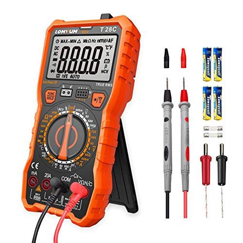 Digital Multimeter Messgerät,LOMVUM T28C 6000 Counts Manual Range Multimeter True RMS