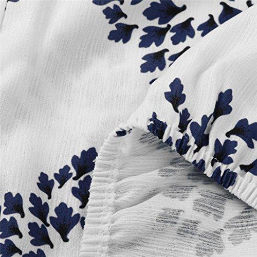 Tops, Yogogo Frauen beiläufig Flare Hülse trägerlose Tops Bluse Weiß