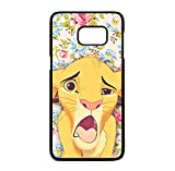Coque silicone BUMPER souple SAMSUNG S7 edge - Simba the king lion / le roi lion mignon motif DESIGN case+ STYLET