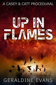 Up in Flames (#1 in the Casey and Catt British Detective Series) (English Edition) de [Evans, Geraldine]