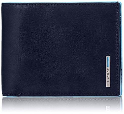Piquadro PU1239B2/BLU2 Blue Square Portafoglio, Blu, 12 cm