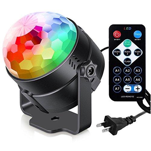 Ξ AO Star Sound Aktiviert Party Lichter mit Fernbedienung DJ Beleuchtung, Mini Blitzleuchten Karaoke Dekoration 7 Farben Geschenke Für Kinder Geburtstag Indoor Gatherings Weihnachten