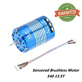 Crazepony-UK 540 13.5T Sensored Brushless Motor 3.175mm for 1/10 RC Car Auto Truck Running Off-Road Vehicle