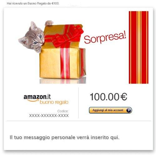 Buono Regalo Amazon.it - E-mail - Gatto sorpresa