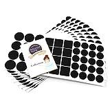 440 x Filzgleiter | Schwarz | verschiedene Größen | Ø 28 mm | Ø 20 mm | 25x25 mm | 3.5 mm starke selbstklebende Filz-Möbelgleiter in Top-Qualität von Adsamm