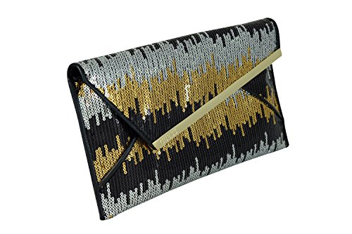 Guess HWGEMP P7126 Clutch Accessori Nero