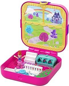 Polly Pocket Mundo Sorpresa Princesas, cofre de muñecas con accesorios (Mattel GDK80)