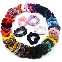 Dapei 50Pcs Velvet Elastic Hair Bands for Women or Girls Hair Accessories