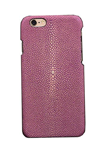 Minifamily® Genuine Polierte Stingray Manta Ray Leder Shell Tasche für iPhone 6 / 6s / 6 Plus 5,5 Zoll / iPhone 7/7 Plus 5,5 Zoll (iPhone 7 Plus 5,5 Zoll, Lila) - Genuine Stingray Haut