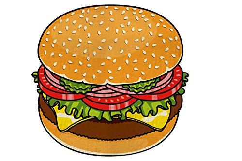 Bigmouth inc tovagliolo da spiaggia di hamburger
