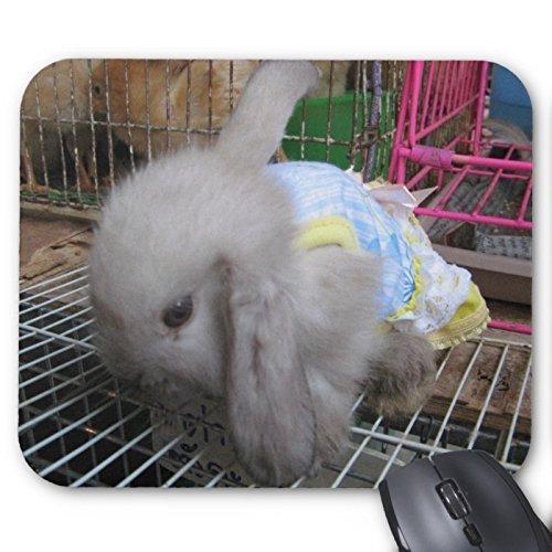 REALMA Lovely Kaninchen Mousepad Serie A Kaninchen in Einem Kleid Mauspad Bunny Kaninchen Maus Pad Rechteck Mousepads
