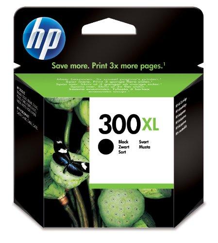 HP 300XL Schwarz Original Druckerpatrone mit hoher Reichweite für HP Deskjet D1660, D2560, D2660, D5560, F2480, F4224, F4280, F4580; HP ENVY 110, 114, 120, HP Photosmart C4680, C4780 (Deskjet Tintenpatrone F4435 Hp)