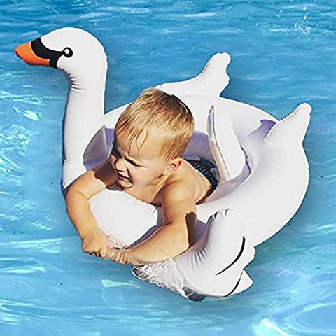 Baby Inflatable Swim Rings Seat - Beby 2017 Summer New Design Safe Swan Pool Floats with Sprinkles for Toddler