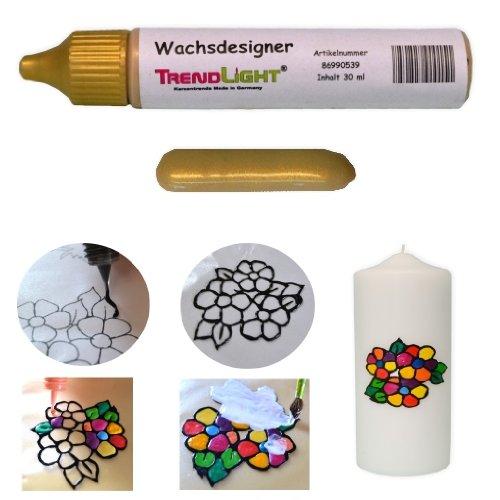 TrendLight  Wachsdesigner gold glänzend 30 ml inkl. ausführlicher Anleitung mit Bilder