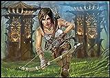 2019Calendrier mural [12pages 20,3x 27,9cm] Lara Croft Tomb Raider ordinateur Jeu Fanart G-210
