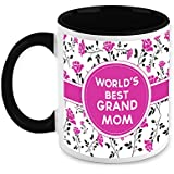HomeSoGood Gift For Grandmother - Best Grandmom White Ceramic Coffee Mug - 325 Ml