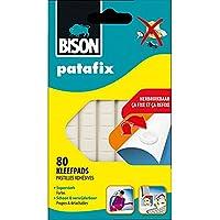 BISON - Pàte à fix patafix 80 pastilles adhésives détachables et réutilisables, blanches