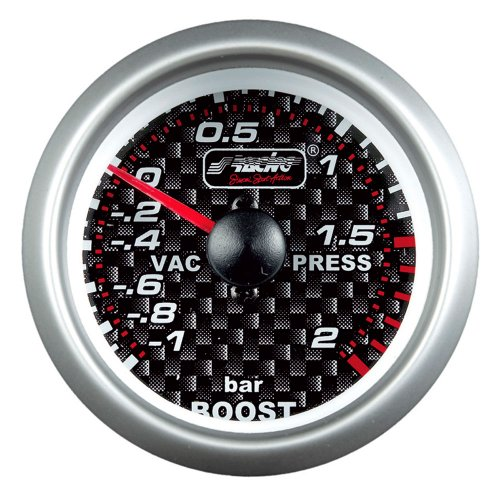 Simoni Racing SR BVK Instrument Analogue Boost Pression Turbo/Vacuum, Carboné, 52 mm