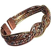magnetisch solide Kupfer, Messing & Aluminum Aztek Twist Armband - 2 Handgelenk Größen - CCB -mb17 - Small - 153mm... preisvergleich bei billige-tabletten.eu