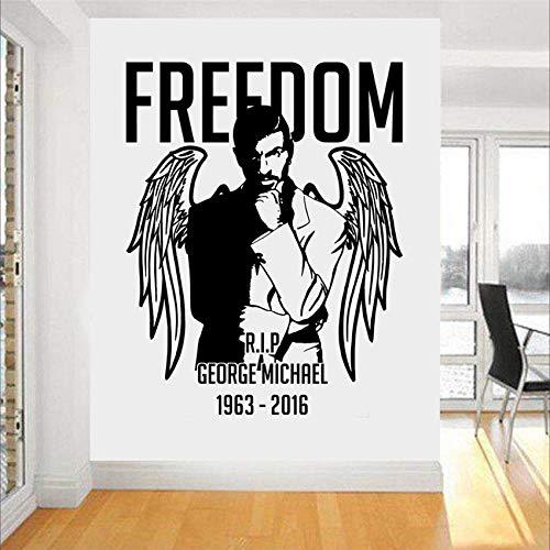 haochenli188 Vintage Home Decoration Wandtattoo George Michael Wandkunst Aufkleber Freiheit Aufkleber Schlafzimmer Poster r 75x58cm