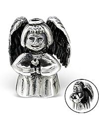 So Chic Joyas - Abalorio Charm ángel - Compatible con Pandora, Trollbeads, Chamilia, Biagi - Plata 925