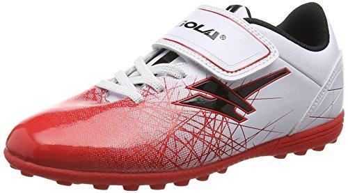 Gola Jungen Zeus Vx Fußballschuhe Weiß (White/Red/Black)