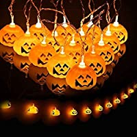 MIA&prit Halloween Pumpkin LED String Lights,Decoration Lamp Corded-Electric String Lights with 20 LED for Halloween Christmas Festival Party Decoration (Pumpkin)