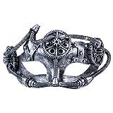Masque Vénitien Mascarade, masque de costume Kapmore Masque de fête grecque Masque de carnaval Masque de masque Masque de mascarade masque d'antiquités Pour hommes et femmes (4, Silver)