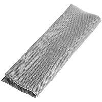 Tihebeyan Paño de la Parrilla del Altavoz, 140cm x 50 cm Tela de Altavoz Cubierta de Rejilla Protectora de Tela de Malla a Prueba de Polvo para Altavoces de Audio estéreo(Gris)