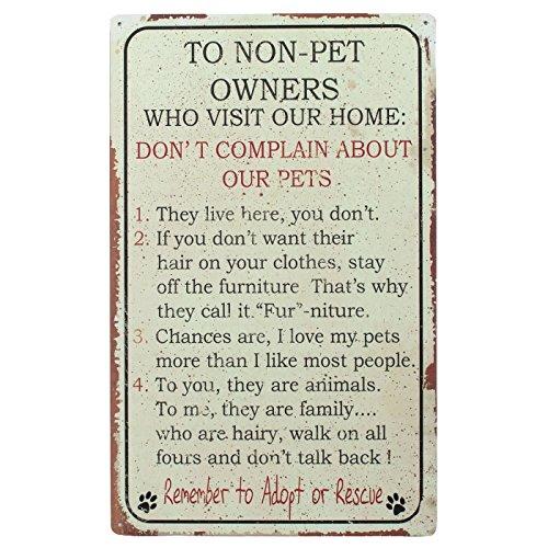 Ohio Machen Nicht Pet Menschen Rules Schild aus unserer Haustiere Kollektion