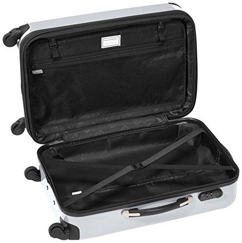 HAUPTSTADTKOFFER - Alex - Hartschalen-Koffer Koffer Trolley Rollkoffer Reisekoffer Erweiterbar, 4 Rollen, 65 cm, 74 Liter, Weiß - 6