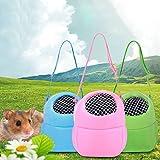 Tierbedarf für Katze und Hund, Meerschweinchen Carry Pouch Pet Carrier Hamster Ratte Kleintiere Carrier Travel Warm Bag (Color : Pink, Size : M)