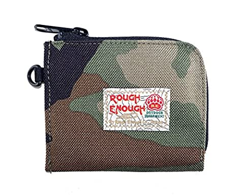 Rough Assez 3fonctionnelle Petite pochette pour monnaie/carte de crédit/papier note fête Poche, camouflage, 11 X 9 cm