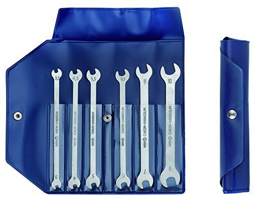 Doppelmaulschlüssel-Satz (Maulschlüssel, Gabelschlüssel), 6-teilig, dünne Ausführung - 3,5 bis 10 mm - 714T-6D-51524
