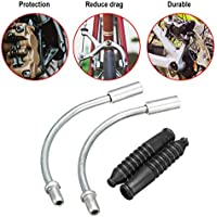 Bike V Brake Noodle Cable Guide Pipe Botas de goma Mountain Road Bicicleta Ciclismo Outdoor Bicycle Brake Pipe - Sliver