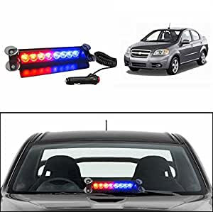 Accedre Police Style Car LED Flashing Lights (Red and Blue) for all cars