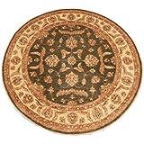 Runder Orient Teppich Ziegler 216 cm Ø Grün - feine Qualität - moderner Teppich oriental round carpet best quality