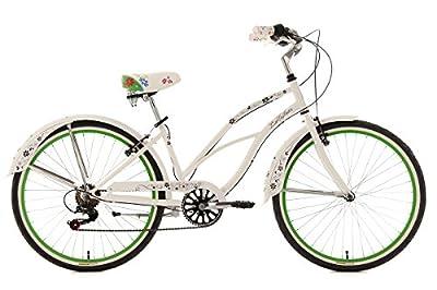 KS Cycling Damen Fahrrad Beachcruiser Bellfleur 6 Gänge, Weiß, 26, 734B