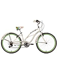 "KS Cycling Bellefleur Vélo Beachcruiser 26"" Blanc 40 cm"