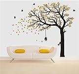 Rocwart - Adhesivo Decorativo para Pared de árbol de la Llama, diseño de árbol de la Familia con Texto en...