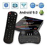 H96 MAX+ Android 9.0 TV Box 4GB RAM/32GB ROM 4K Ultra HD RK3328 Quad Core Soporte 2.4GHz WiFi con Wireless Mini Backlight Keyboard