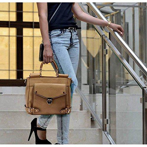 Neu Frauen Entwerfer Handtaschen Damen imitat Leder Schulter für Leinentrage Greifer Taschen Nude