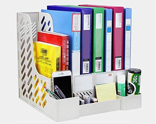 Dbtxwd Datei Box Kunststoff Desktop Aufbewahrungsbox Office Supplies Vier Schichten Dateien Rack Informationen Bar Datei Finishing Box Pen container323130,5cm/2Stück 2