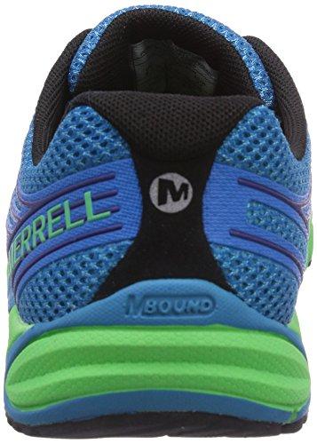 Merrell BARE ACCESS 4 Herren Laufschuhe Blau (Racer Blue/Bright Green)