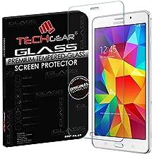 TECHGEARA® Samsung Galaxy Tab 4 7.0 Inch with WiFi SM-T230 GLASS Edition Genuine Tempered Glass Screen Protector Guard Cover (SM-T230 (Wifi)), [Importado de Reino Unido]